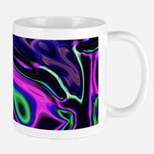 liquid green purple swirls Mugs