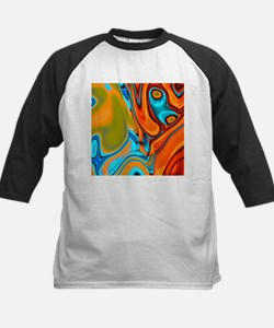 turquoise orange swirls Baseball Jersey