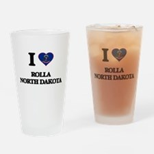 I love Rolla North Dakota Drinking Glass