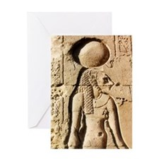 Sekhmet Lioness Goddess of Upper Egypt Greeting Ca