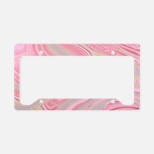 cute pink marble swirls License Plate Holder
