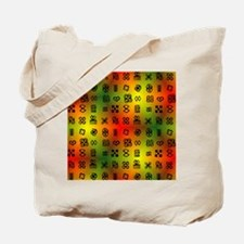 Adinkra Symbols With African Colors Tote Bag