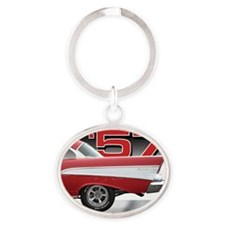 Cool Race cars Oval Keychain