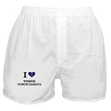 I love Wishek North Dakota Boxer Shorts