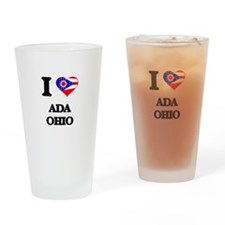 I love Ada Ohio Drinking Glass