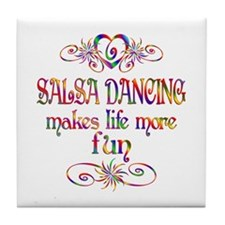 Salsa Dancing More Fun Tile Coaster
