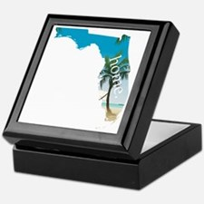 Florida Home Palm Tree Beach Keepsake Box