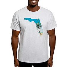 Florida Home Palm Tree Beach T-Shirt