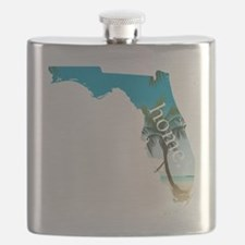 Florida Home Palm Tree Beach Flask