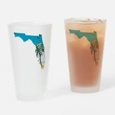 Florida Home Palm Tree Beach Drinking Glass