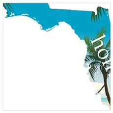 Florida Home Palm Tree Beach Canvas Art