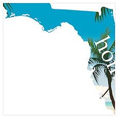 Florida Home Palm Tree Beach Poster