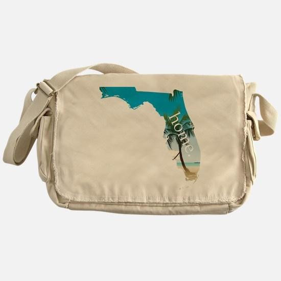 Florida Home Palm Tree Beach Messenger Bag