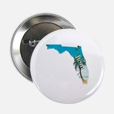 "Florida Home Palm Tree Beach 2.25"" Button"