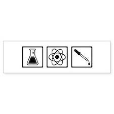 Chemistry atom test tube Bumper Sticker