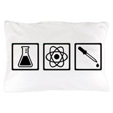 Chemistry atom test tube Pillow Case