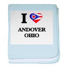 I love Andover Ohio baby blanket