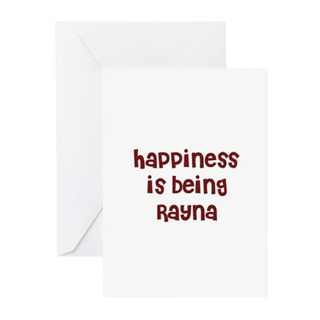 happiness is being Rayna Greeting Cards (Pk of 10)