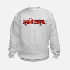 Vintage red fire truck drawing Sweatshirt