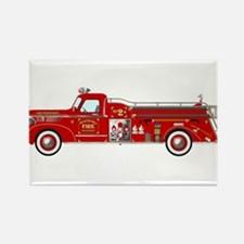 Vintage red fire truck drawing Magnets
