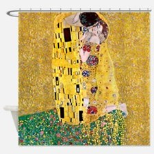 Klimt 'The Kiss' Lovers Shower Curtain