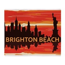 Brighton Beach. Throw Blanket