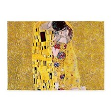 Klimt 'The Kiss' Lovers 5'x7'Area Rug