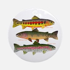 3 Western Trout Ornament (Round)