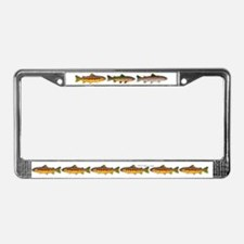 3 Western Trout License Plate Frame
