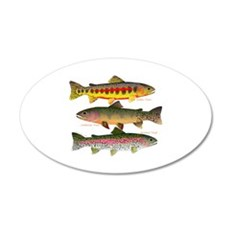 3 Western Trout Wall Decal