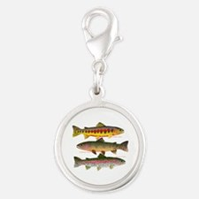 3 Western Trout Charms