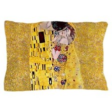 Klimt 'The Kiss' Lovers Pillow Case