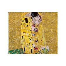 Klimt 'The Kiss' Lovers Throw Blanket
