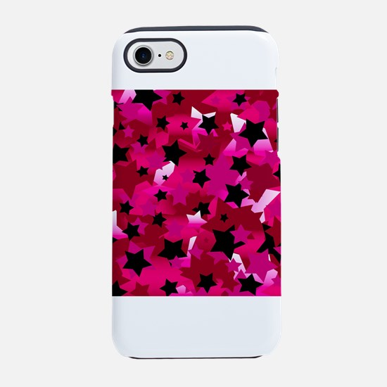 Punk Rock Stars Pink iPhone 7 Tough Case