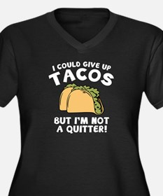 I Could Give Up Tacos Women's Plus Size V-Neck Dar