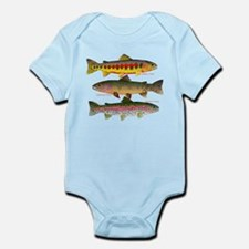 3 Western Trout Body Suit