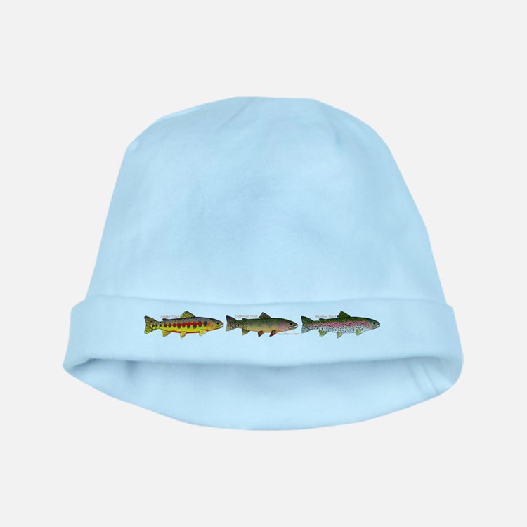 3 Western Trout baby hat