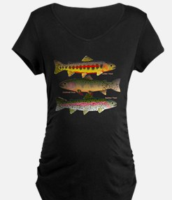 3 Western Trout Maternity T-Shirt