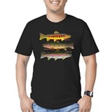 Trout Fitted Dark T-Shirts