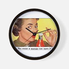 Vintage Poster Advertising woman Ketchu Wall Clock