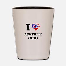 I love Ashville Ohio Shot Glass