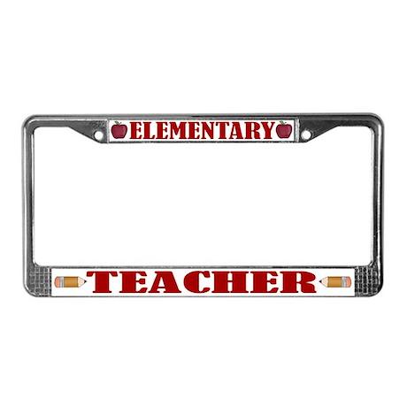 Elementary Teacher License Plate Frame