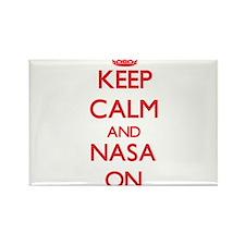 Keep Calm and Nasa ON Magnets