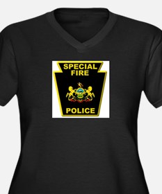 Fire police badge Plus Size T-Shirt