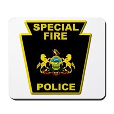 Fire police badge Mousepad