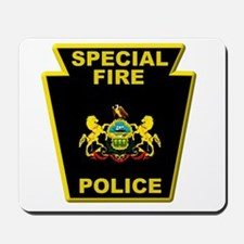 Fire police badge Mousepad