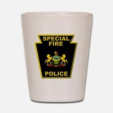 Fire police badge Shot Glass