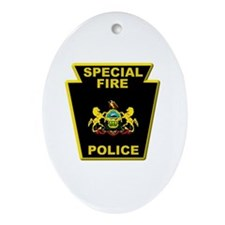 Fire police badge Ornament (Oval)