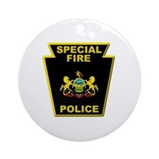 Fire police badge Ornament (Round)