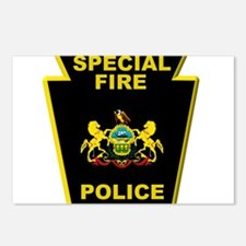 Fire police badge Postcards (Package of 8)
